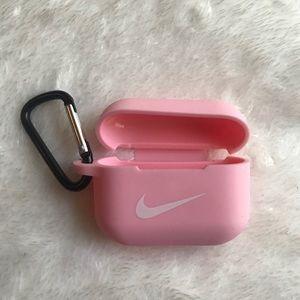 Pink Airpod pro Nike case
